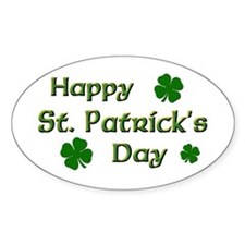 Happy St. Patrick's Day Oval Decal