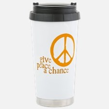 Unique Give war a chance Travel Mug