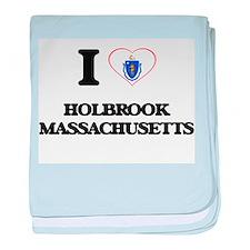 I love Holbrook Massachusetts baby blanket