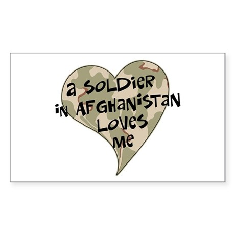 Afghanistan soldier love Rectangle Sticker