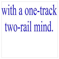 I'm a rail fan with a one-track two-rail mind.  Canvas Art