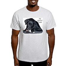 """Quiting Time"" Ash Grey T-Shirt"