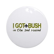 I got Bush 2nd round Ornament (Round)