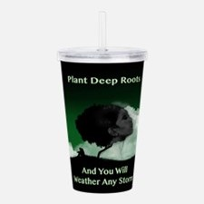 weather any storm Acrylic Double-wall Tumbler