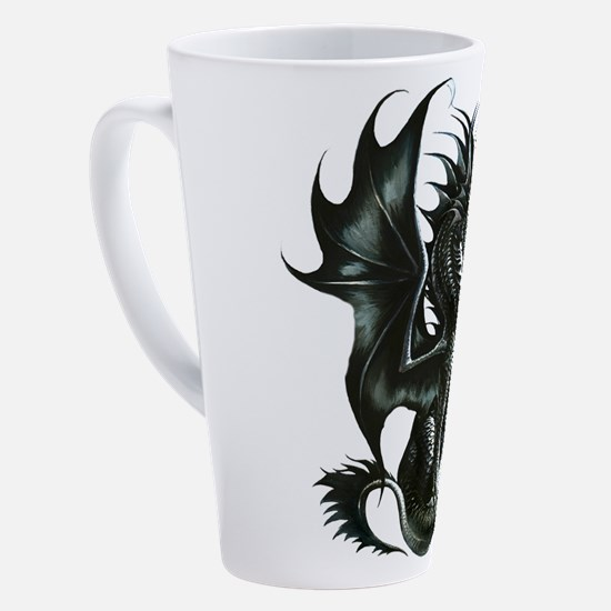 Cute Dragon art 17 oz Latte Mug