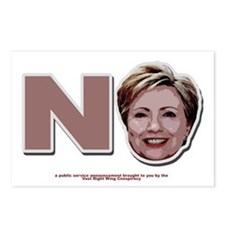 No Hillary Postcards (Package of 8)