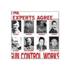 "Cute Gun control works Square Sticker 3"" x 3"""