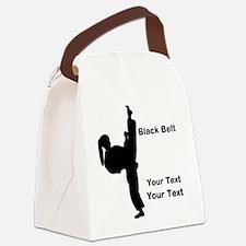 Black Belt Kick Canvas Lunch Bag