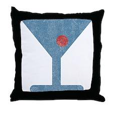 Vintage Matini Throw Pillow