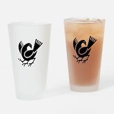 Yata crow Drinking Glass