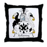 Kellaway Family Crest Throw Pillow