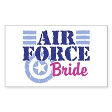 Air Force Bride Rectangle Decal