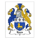 Keen Family Crest Small Poster
