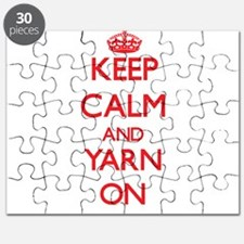 Keep Calm and Yarn ON Puzzle