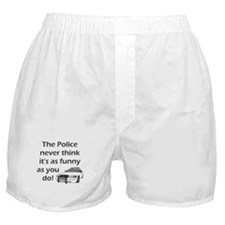 Police Funny Boxer Shorts