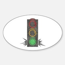 Vintage Trafficlight Oval Decal