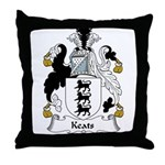 Keats Family Crest Throw Pillow