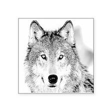"Funny Wolf Square Sticker 3"" x 3"""