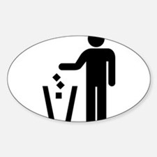 Rubbish Oval Decal