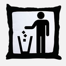 Rubbish Throw Pillow