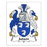 Judson Family Crest Small Poster