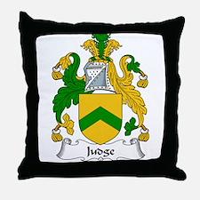 Judge Family Crest Throw Pillow