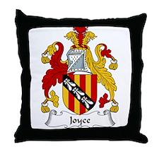 Joyce Family Crest Throw Pillow