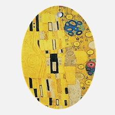 Klimt the Kiss Pattern Detail Ornament (Oval)
