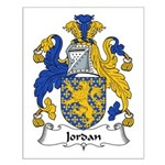 Jordan Family Crest Small Poster