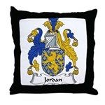 Jordan Family Crest Throw Pillow