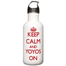 Keep Calm and Yoyos ON Water Bottle