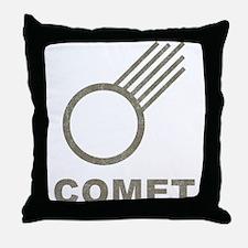 Vintage Comet Throw Pillow
