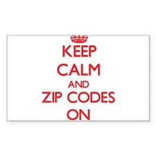 Keep Calm and Zip Codes ON Stickers