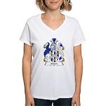 Jobson Family Crest Women's V-Neck T-Shirt