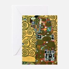 Fulfillment by Gustav Klimt Greeting Cards