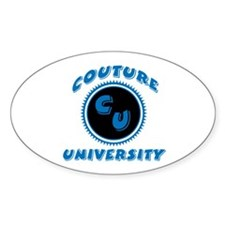 Couture University Oval Decal