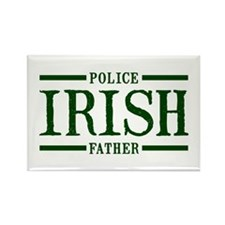 Irish Police Father Rectangle Magnet
