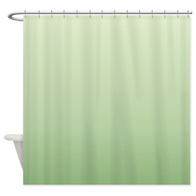 mint green ombre shower curtain by admin cp62325139