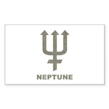 Vintage Neptune Rectangle Decal