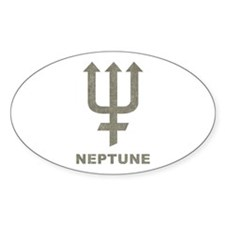Vintage Neptune Oval Decal