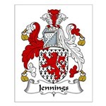 Jennings Family Crest Small Poster