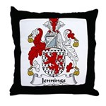 Jennings Family Crest Throw Pillow