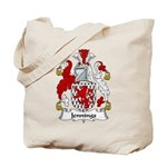 Jennings Family Crest Tote Bag