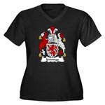 Jennings Family Crest Women's Plus Size V-Neck Dar