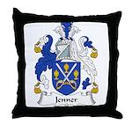 Jenner Family Crest Throw Pillow