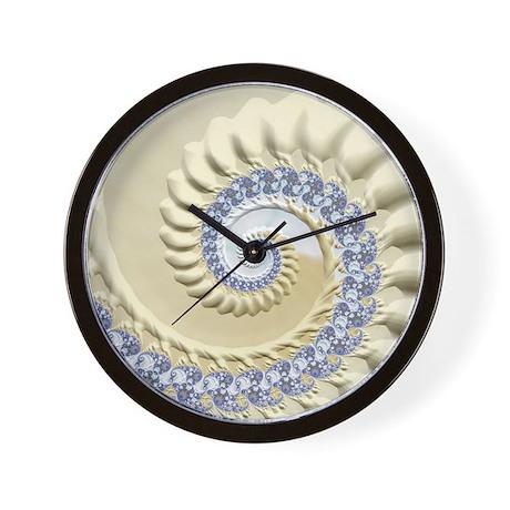 Seashell sand fractal nature art wall clock by listing for Seashell clock