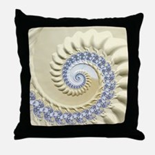 Seashell & Sand Fractal Nature Art Throw Pillow
