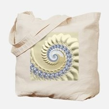 Seashell & Sand Fractal Nature Art Tote Bag