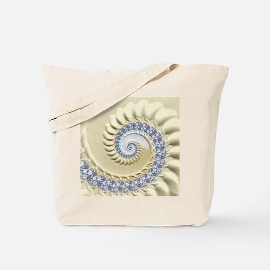 Seashell & Sand Fractal Nature Art Tote Bag