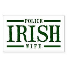 Irish Police Wife Rectangle Decal